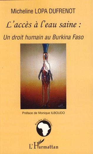Couverture L'accès à l'eau saine: un droit humain au Burkina Faso