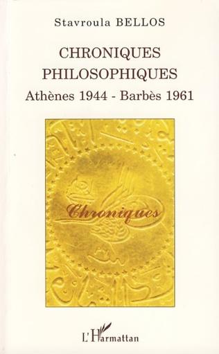 Couverture Chroniques philosophiques