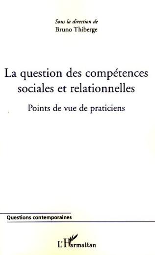 Couverture La question des compétences sociales et relationnelles