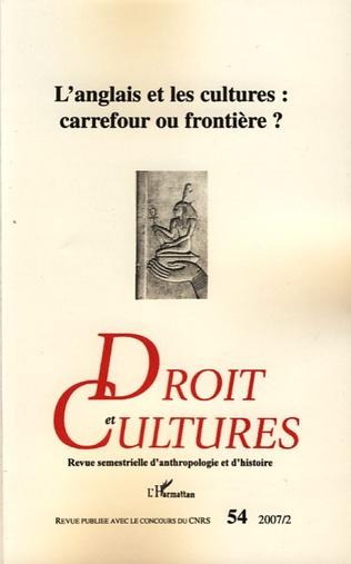 Couverture L'anglais et les cultures : carrefour ou frontière ?