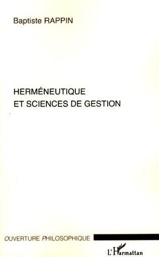 Couverture Herméneutique et sciences de gestion