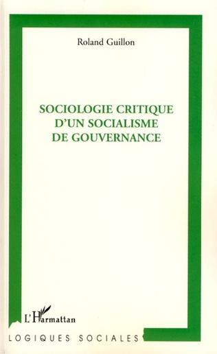 Couverture Sociologie critique d'un socialisme de gouvernance