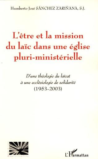 Couverture L'être et la mission du laïc dans une église pluri-ministérielle