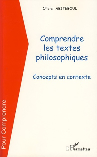 Couverture Comprendre les textes philosophiques