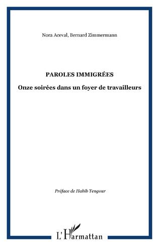 Couverture Paroles immigrées
