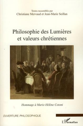 Couverture Philosophie des Lumières et valeurs chrétiennes
