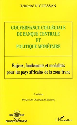 Couverture Gouvernance collégiale de banque centrale et politique monétaire
