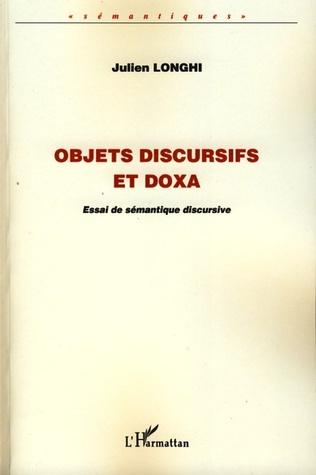 Couverture Objets discursifs et doxa