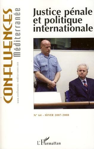 Couverture Justice pénale et politique internationale