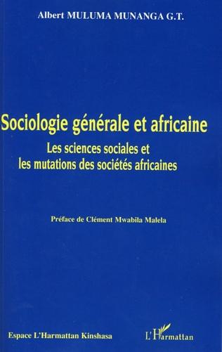 Couverture Sociologie générale et africaine