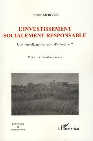 Couverture L'investissement socialement responsable