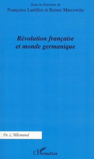 Couverture Révolution française et monde germanique