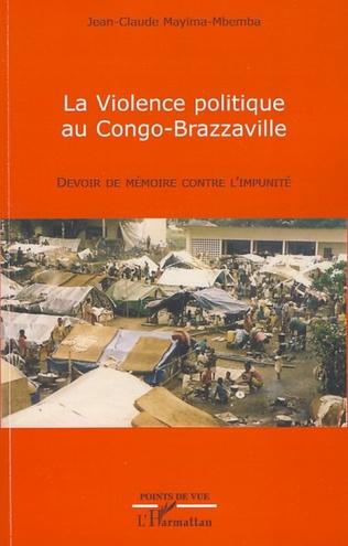 Couverture La violence politique au Congo-Brazzaville