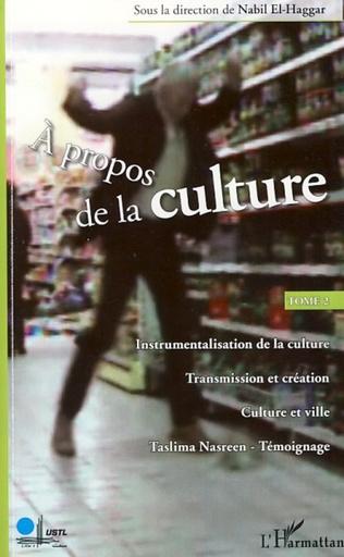 Couverture A propos de la culture