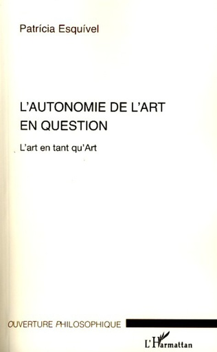 Couverture L'autonomie de l'art en question