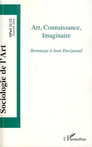 Couverture Art, Connaissance, Imaginaire