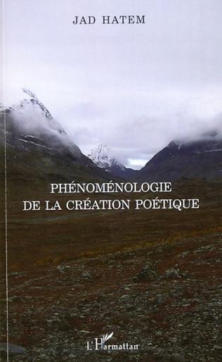 Couverture Phénoménologie de la création poétique