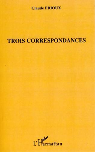 Couverture Trois correspondances