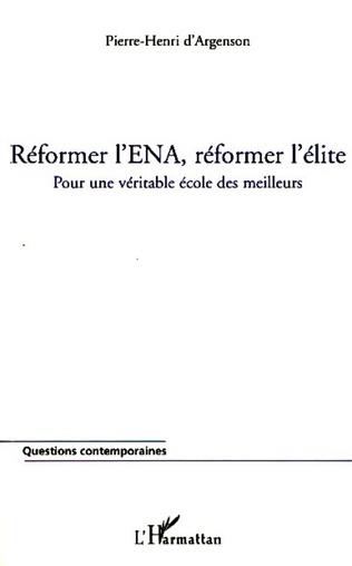 Couverture Réformer l'ENA, réformer l'élite