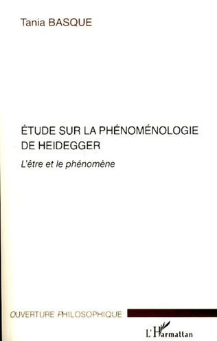 Couverture Etude sur la phénoménologie de Heidegger