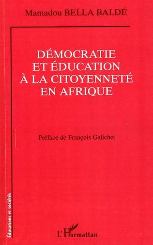Couverture Démocratie et éducation à la citoyenneté en Afrique