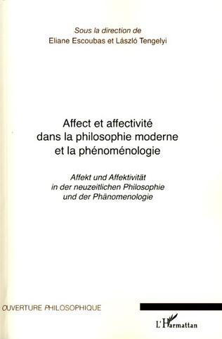 Couverture Affect et affectivité dans la philosophie moderne et la phénoménologie