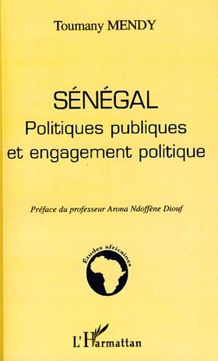 Couverture Sénégal politiques publiques et engagement politique