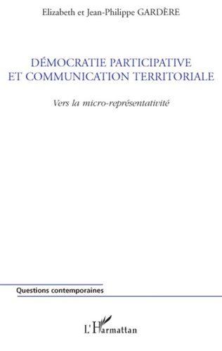 Couverture Démocratie participative et communication territoriale