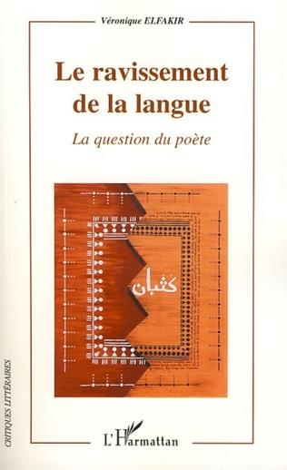 Couverture Le ravissement de la langue