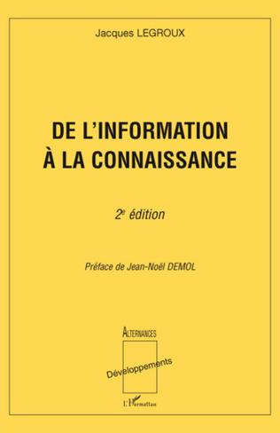 Couverture De l'information à la connaissance