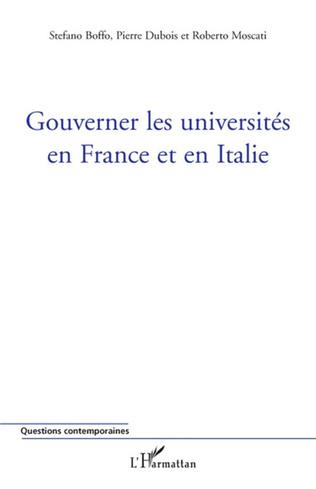Couverture Gouverner les universités en France et en Italie