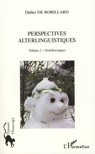 Couverture Perspectives alterlinguistiques Volume 2