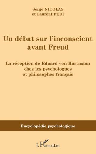 Couverture Un débat sur l'inconscient avant Freud