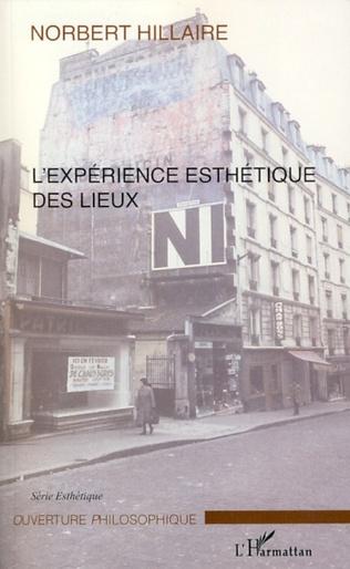 Couverture L'expérience esthétique des lieux