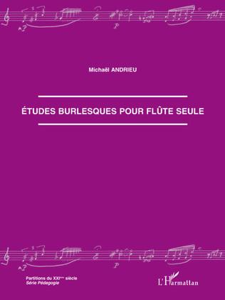 Couverture Etudes burlesques pour flûte seule