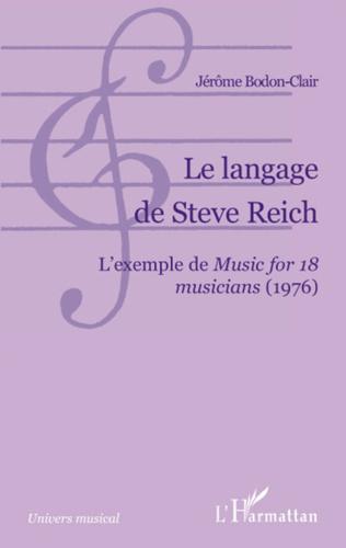 Couverture Le langage de Steve Reich