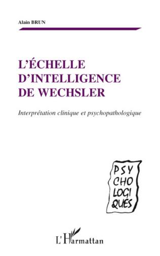 Couverture L'échelle d'intelligence de Wechsler