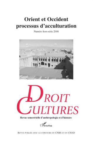 Couverture Orient et Occident processus d'acculturation