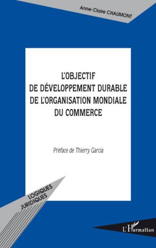 Couverture L'objectif de développement durable de l'Organisation Mondiale du Commerce