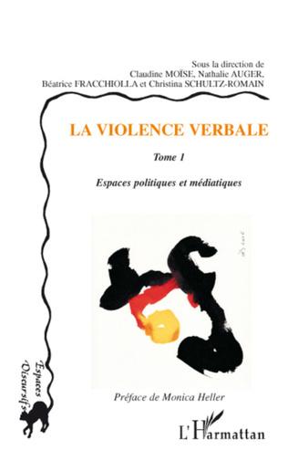 Couverture La violence verbale Tome 1