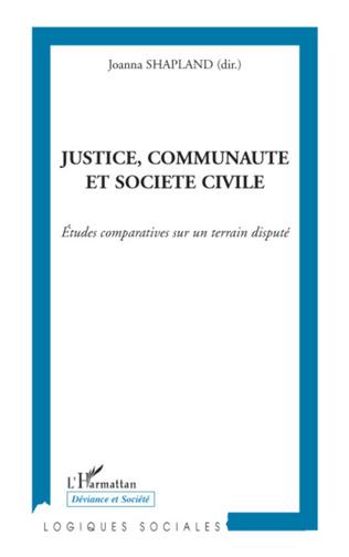 Couverture Justice, communauté et société civile