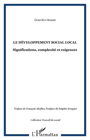 Couverture Le développement social local