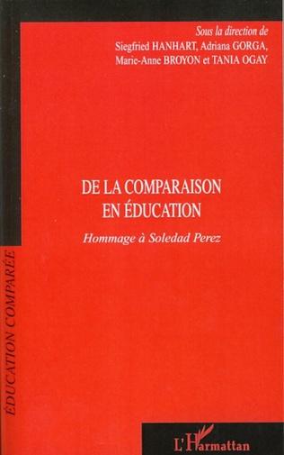 Couverture De la comparaison en éducation