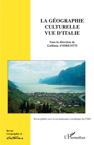 Couverture Géographie culturelle vue d'Italie