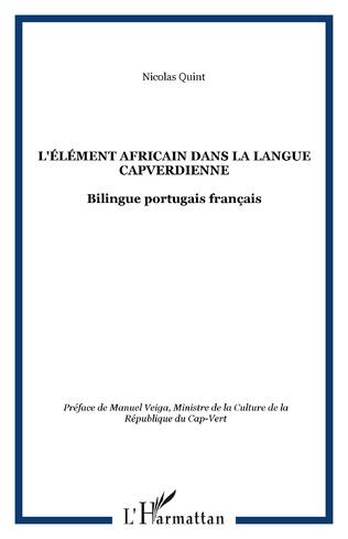 Couverture L'élément africain dans la langue capverdienne
