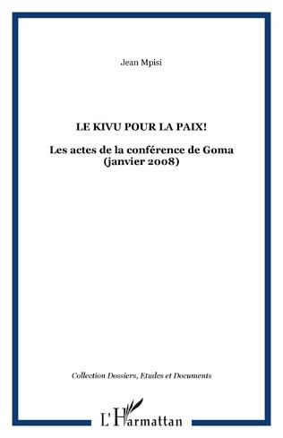 Couverture Le Kivu pour la paix!