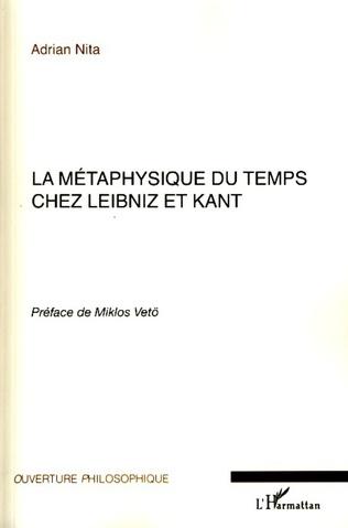 Couverture La métaphysique du temps chez Leibniz et Kant