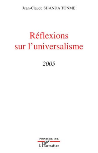 Couverture Réflexions sur l'universalisme