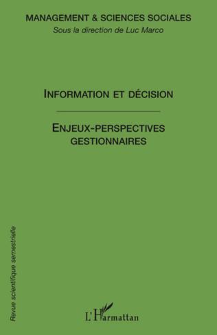Couverture Information et décision