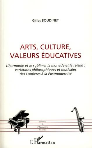Couverture Arts, culture, valeurs éducatives